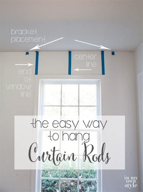 proper way to hang lights use painters to help hang curtain rods level in a few