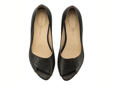 black peep toe flat shoes aya peep toes black flat shoes black flats