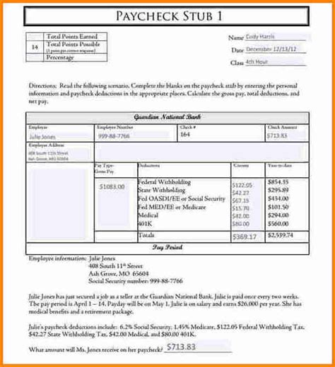 6 Free Editable Pay Stub Template Simple Salary Slip Paycheck Template Word