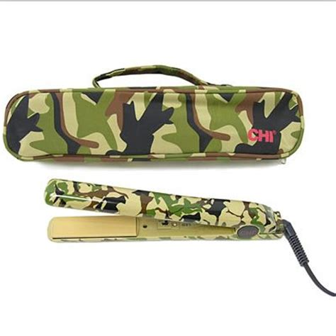 1 Limited Edition Design Collection Ceramic Curling Iron By Farenheit by Chi Flat Iron Green Camo Show Your Girly Side With