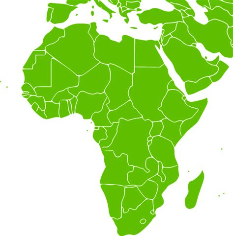africa map vector png free vector graphic africa continent green map free