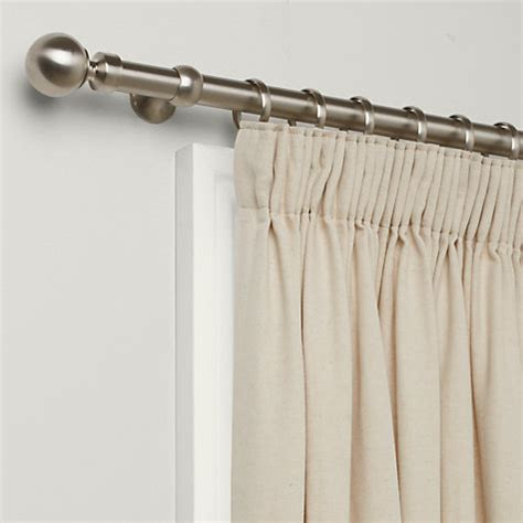25mm curtain pole buy john lewis brushed steel curtain pole kit dia 25mm
