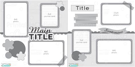 scrapbook layout templates 12x12 12 215 12 two page free printable scrapbook layout premier