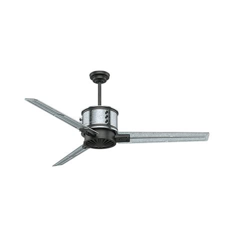 galvanized outdoor ceiling fan casablanca duluth 60 in indoor outdoor galvanized steel