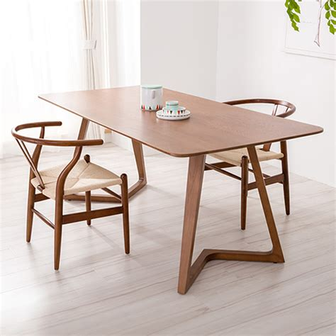 Scandinavian Dining Table And Chairs 100 Solid Wood Dining Tables And Chairs Walnut Color Combination 1 8m Scandinavian