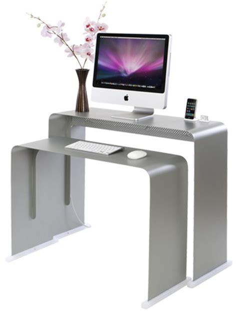 Onelessdesk Bureau Ultra Fin En M 233 Tal Bureau Ordinateur Design