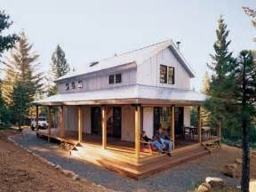 small cabin plans with wrap around porch within barn style house plan beds baths