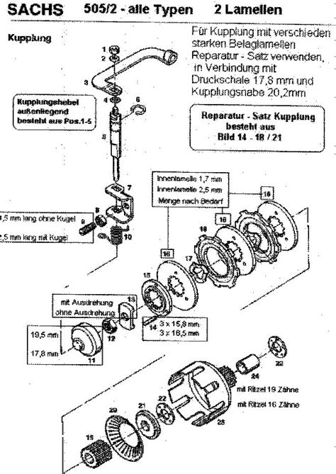 Sachs Motor Kupplung Einstellen hercules m2 goes 2 sachs 505 seite 4 anf 228 nger