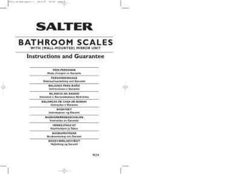 instructions for salter bathroom scales salter 9034 personal weighing scale download manual for