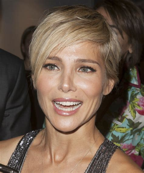 Elsa Pataky Short Straight Casual Hairstyle   Medium Blonde