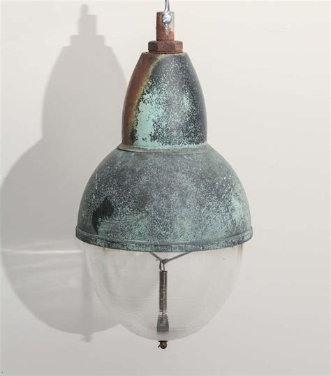 Vintage Copper Pendant Light With Glass Shade For Sale At Copper Shade Pendant Light