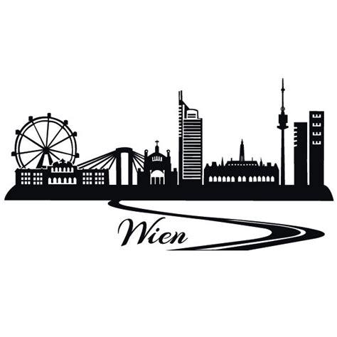 Aufkleber Bestellen Wien by Wien Skyline Wandtattoo