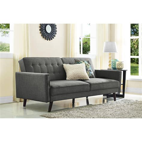better homes and gardens rowan linen futon living room