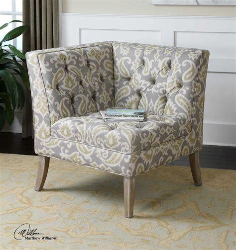 Corner Accent Chair Uttermost Meliso Tufted Corner Accent Chair Ut23167