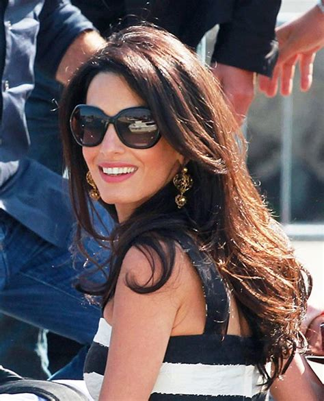 is amal clooney hair one length long celebrity hairstyles my hair amal clooney and braces