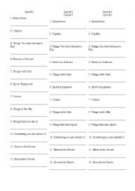 printable scattergories dice english worksheets games worksheets page 192