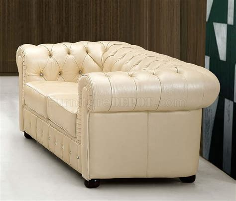 Formal Leather Sofa by Light Beige Genuine Tufted Leather Formal Living Room Sofa