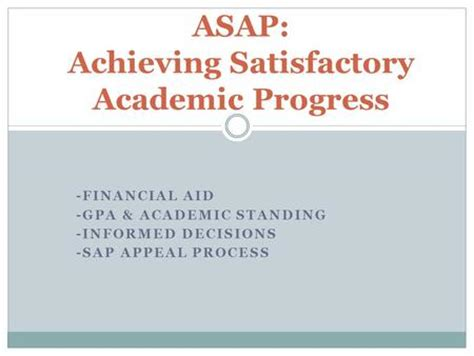 Financial Aid Appeal Letter Academic Progress A Workshop On Satisfactory Academic Progress Fya101 Fall Ppt