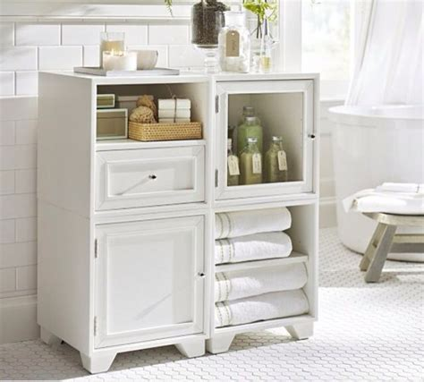 pottery barn bathroom furniture 17 best images about storage ideas on pinterest cd