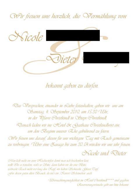 Hochzeitseinladung Standesamt by Hochzeitseinladungen Text Standesamt Und Kirche Alle