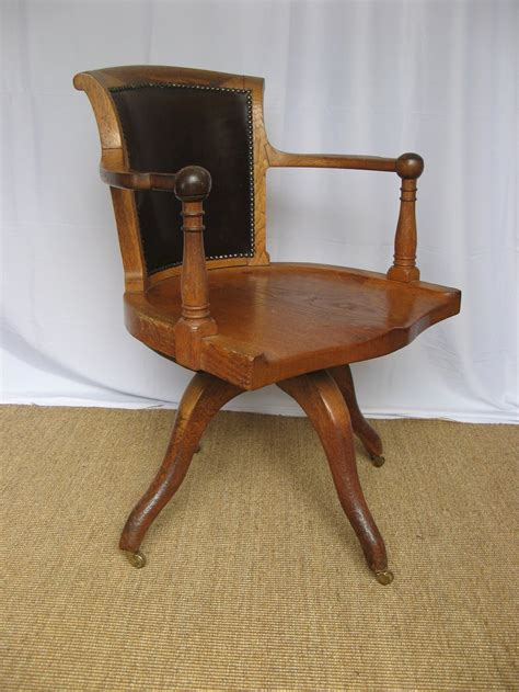 oak swivel desk chair edwardian oak swivel desk chair antiques atlas