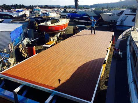 san diego boat rental deals composite decking all finished www sandiegopontoon
