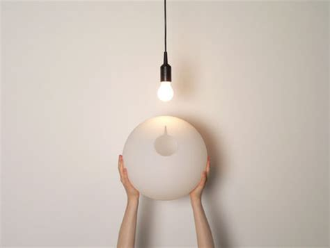 Home Decor From Recycled Materials Simple Sphere Transforms Bare Bulbs To Soft Ceiling Lights