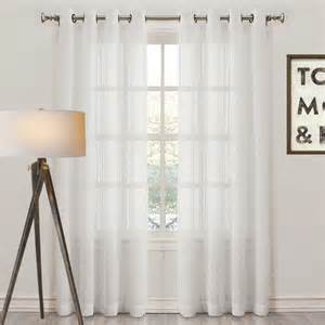 White Eyelet Curtains Montauk Sheer Check Eyelet Curtain Panel White Traditional Curtains Melbourne By