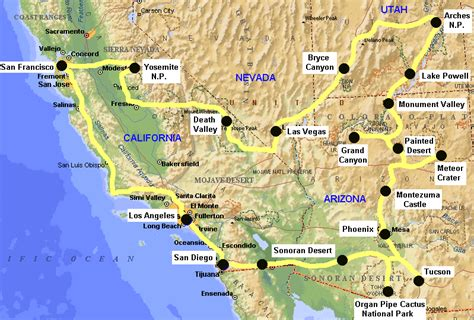 road map of usa west coast this route on the west coast is the most known route that
