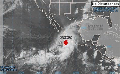 imagenes satelital huracan patricia hurac 225 n patricia atravesar 225 todo m 233 xico y puede llegar a