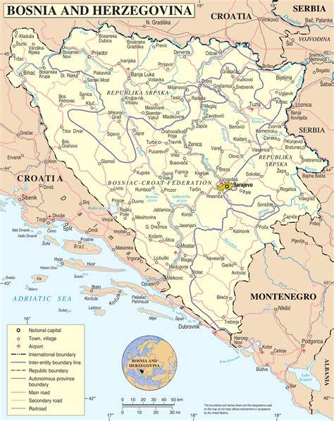 map of bosnia and herzegovina bosna i hercegovina wikiwand