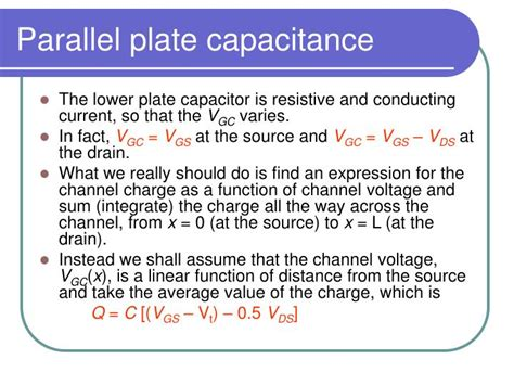 assuming the cell is a parallel plate capacitor estimate the capacitance of the cell ppt metal oxide semiconductor mos powerpoint presentation id 6611217