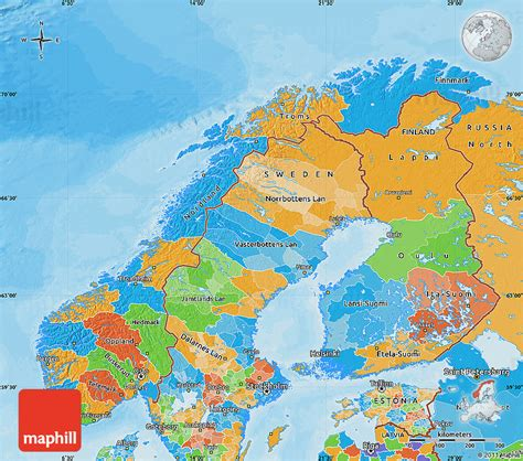 political map of scandinavia political map of