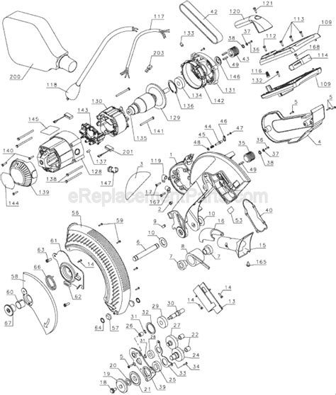 Dewalt Dw706 Parts List And Diagram Type 1