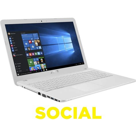 Laptop Asus X43e White buy asus x541sa 15 6 quot laptop white free delivery currys