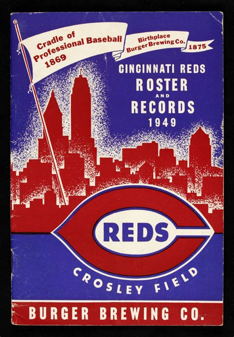 Cincinnati Records Lot Detail 1949 Cincinnati Reds Roster Records Crosley Field