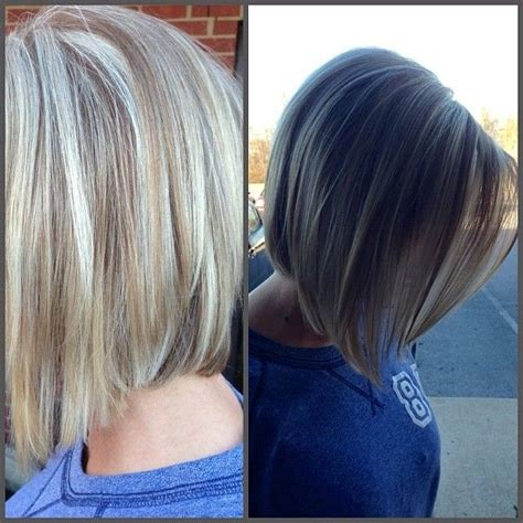 a line haircuts front and back views short bob hairstyles side view
