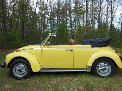 old volkswagen yellow 1979 classic vw super beetle convertible yellow for sale