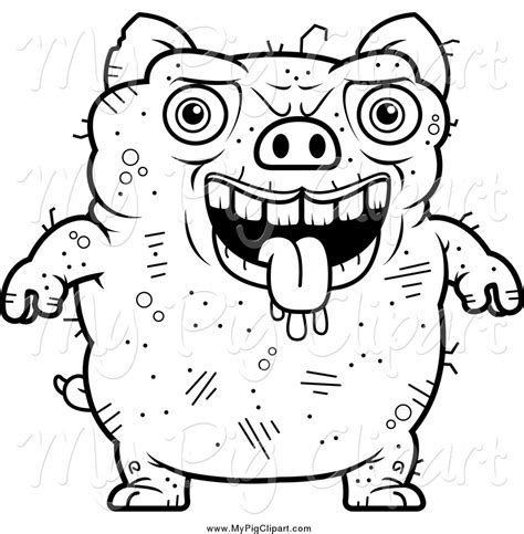 fat pig coloring page royalty free stock pig designs of ugly animals