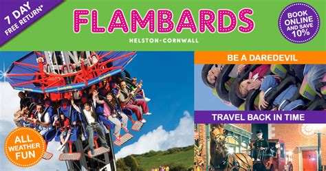 the roller coaster at flambards theme park near helston flambards theme park in helston things to do in cornwall