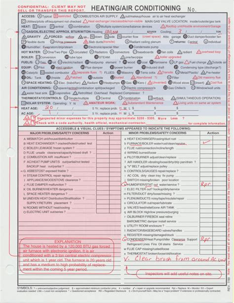 Mechanical Inspection Report Template