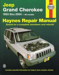 free auto repair manuals 1995 jeep grand cherokee regenerative braking 1993 2004 jeep grand cherokee haynes repair manual