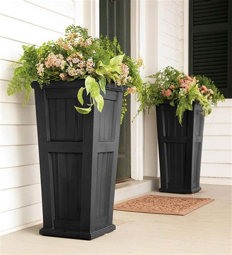 Front Porch Planters Possible Diy Love Their Shape And Front Door Planters