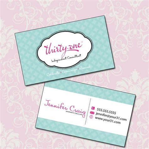 thirty one gifts business card template 17 best images about business card design on