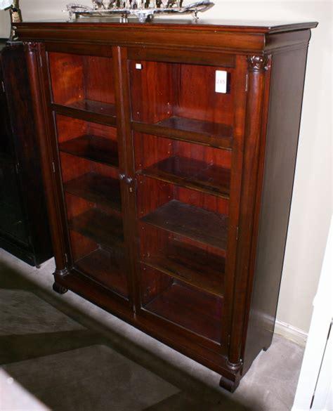 all original mahogany empire revival two door