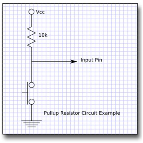 definition of pull up resistor electronic projects and design tut 8 switch and button