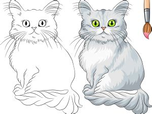 advanced cat coloring pages animals archives kidspressmagazine com