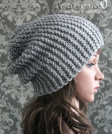 easy knitted hat 1000 ideas about easy knitting patterns on