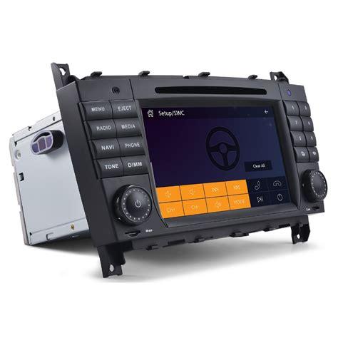 car audio system for mercedes clk w209 mercedes w203 car radio with gps navigation bluetooth swc