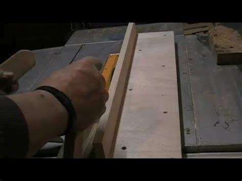 fabrication d un guide de coupe pour scie sur table